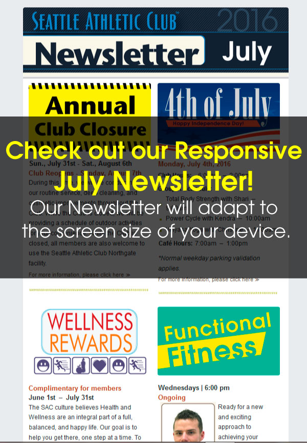 Seattle Athletic Club Downtown - July 2016 Newsletter
